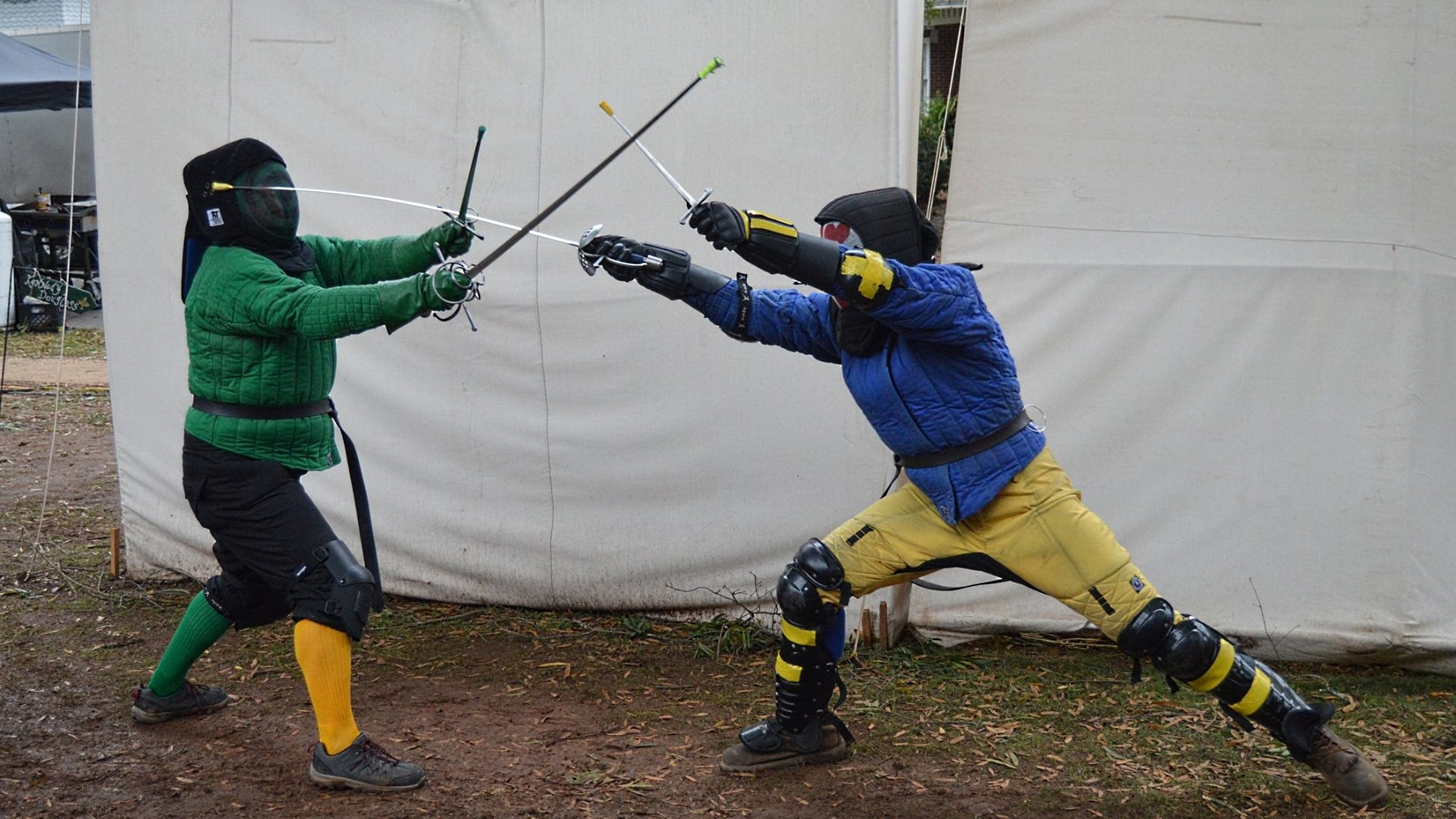 IMAGE: Demonstrating rapier at a faire