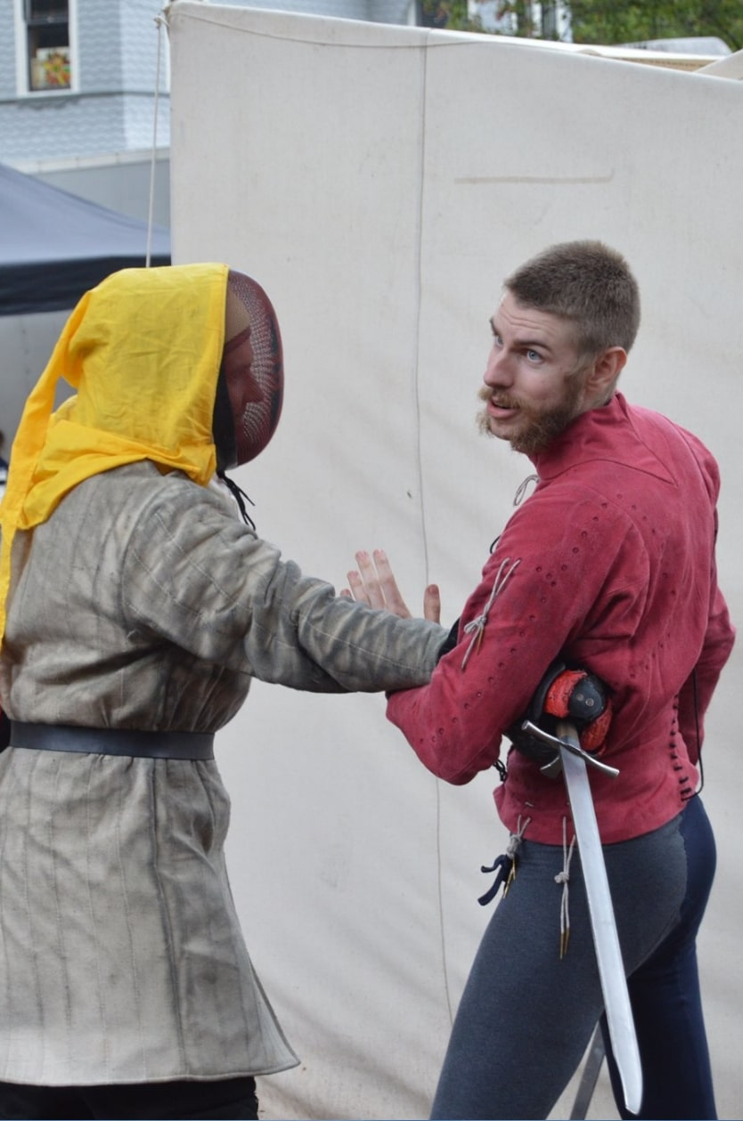 IMAGE: Demonstrating messer at a faire